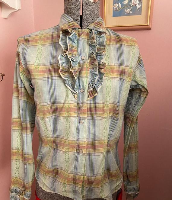 Vintage plaid women's western shirt by Caravan