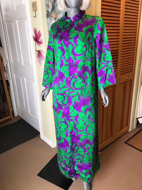 Vintage Alice of California Kaftan maxi dress  gre