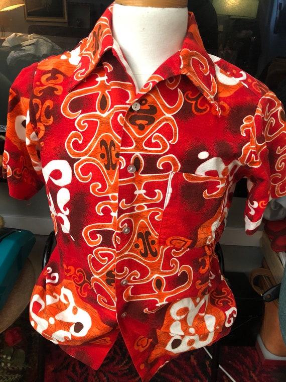 Vintage Don Loper Barkcloth Hawaiian shirt