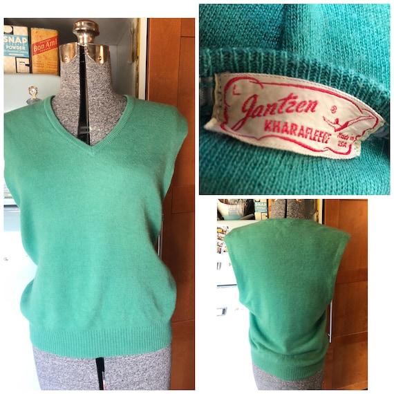 Vintage 40s /50s Jantzen Kharafleece sweater vest