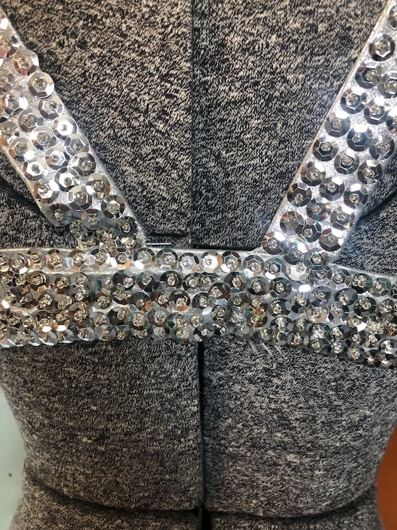 Vintage belly dance or burlesque costume silver - image 3