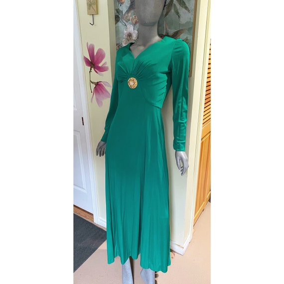 Vintage emerald green Murray G Sophisticates gown