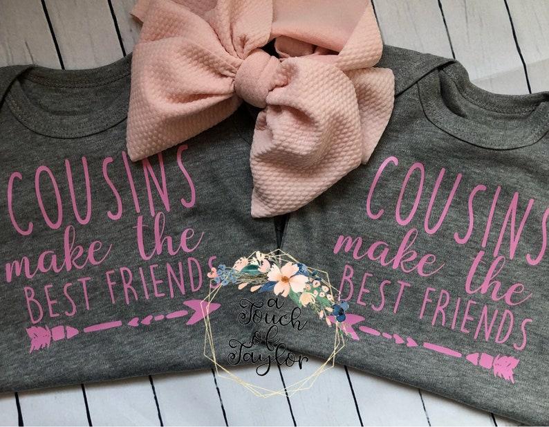 Baby Shower Gift Baby Gift Cousins Make The Best Friends Onesie Set Personalized Onesie Cousins Unisex Onesie Custom Onesie