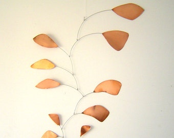 Large Copper Hanging Mobile Abstract Art