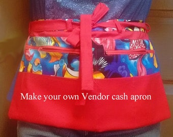 Vendor cash apron pattern - Make your own - Pattern only