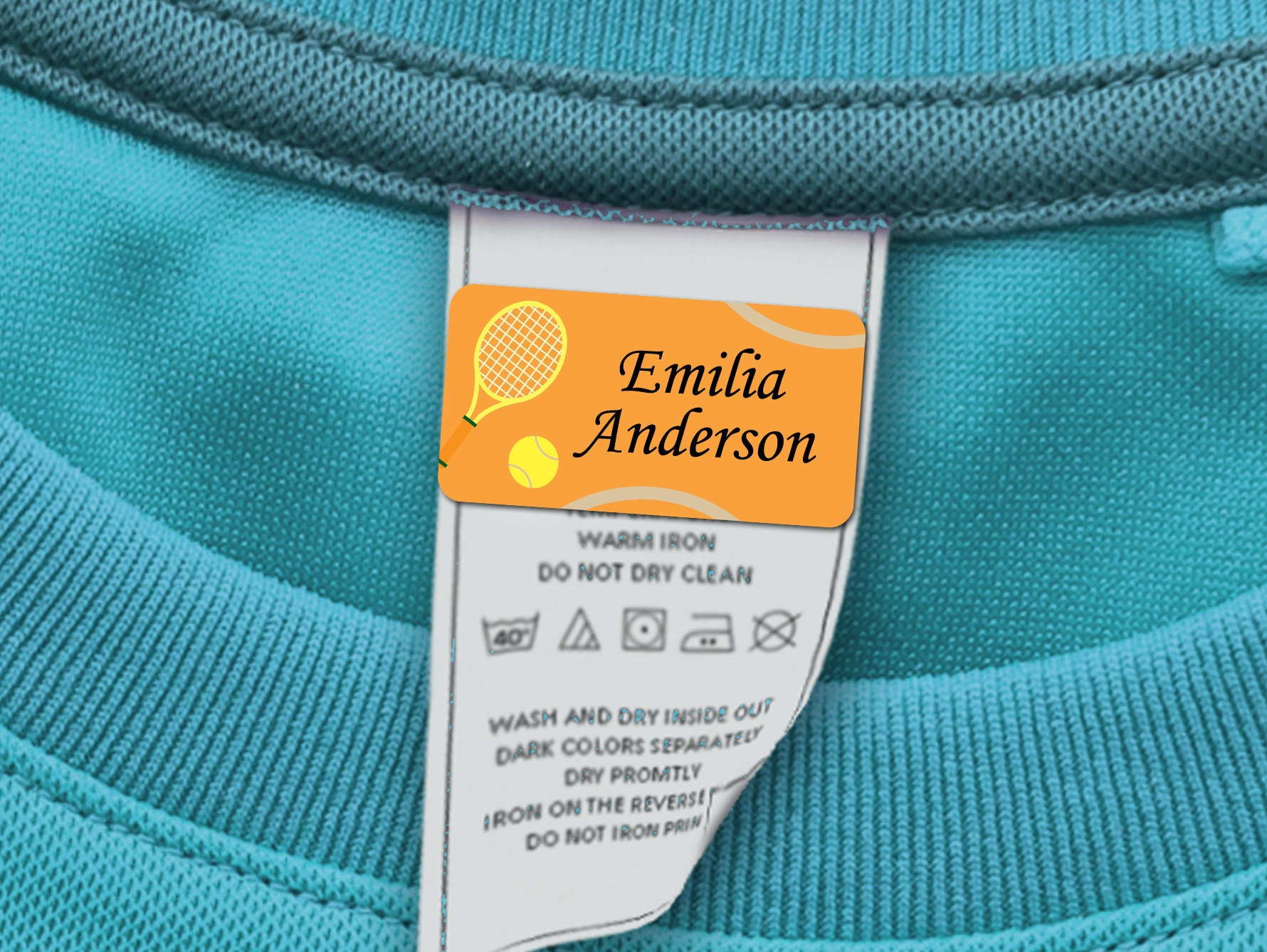 200pcs Iron on Sew on Waterproof Name Clothing School Label Tags Tapes Patch
