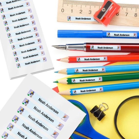 Smile Design 34 MINI LABELS Pencil Labels Crayon Labels School Supply Labels Pen Labels