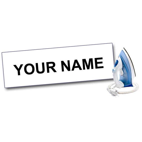Iron On Polyester Character Personalised Name Labels