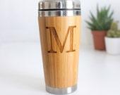 Initial Travel Mug, Personalized Letter Travel Mug, Dad Gift, Coffee Lover Gift, Personalised Initial Travel Mug