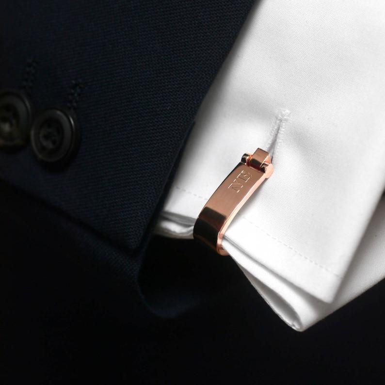 Wrap Around Cufflinks Initial Cuff links Monogram Cufflinks Groomsmen Cufflinks Personalised Wrap Around Cufflinks Wedding Cufflinks