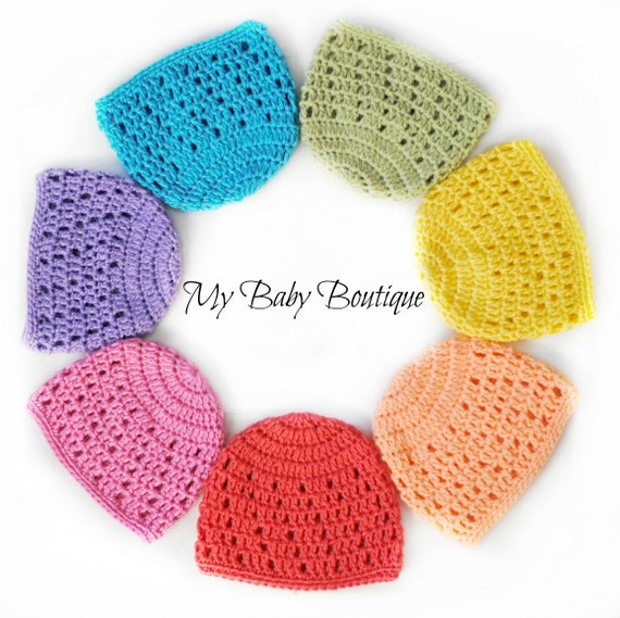 Charity Baby Caps Crochet Pattern 8 Sizes Etsy