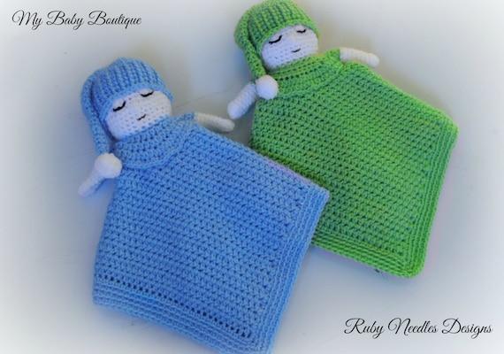 Mon petit bébé somnolent Boy Lovey - Crochet Pattern
