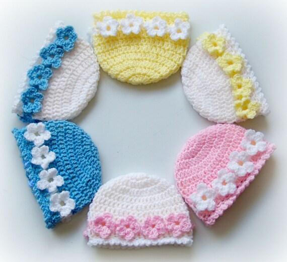 No-Sew Blume Hüte-4 Größen häkeln Baby Säugling   Etsy