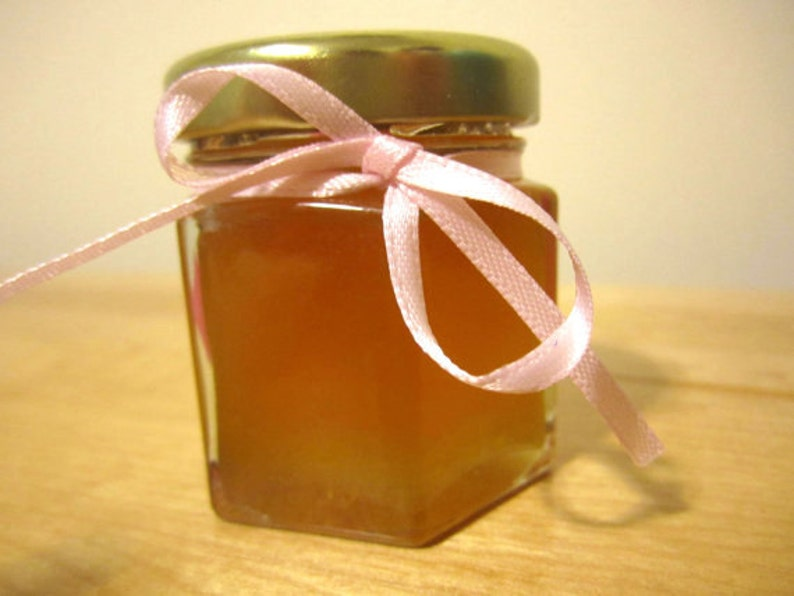 1.5 Ounce Hexagon Glass Jars with Tag and Ribbon Baby Shower Favor Honey Custom Edible Duck Decoration Boy 24 Honey Favours Girl