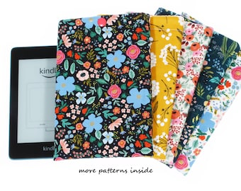 kindle paperwhite case padded e-reader sleeve Amazon kindle soft cover fabric tablet cover girlfriend gift for her