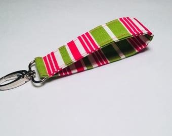Wrist Key Fob, Key Holder, Keychain, Wristlet, Key Ring, Teacher Gift, Gift under 10 - READY TO SHIP!