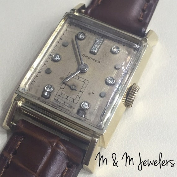 Vintage 14K Yellow Gold Diamond Longines Watch