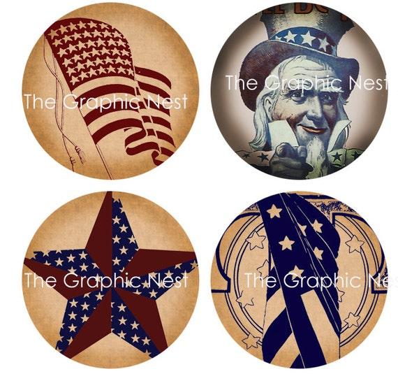 1x1 Digital download. 15 inch Americana Circles