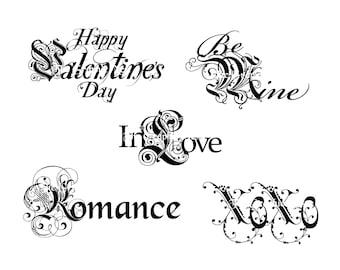 Valentine word art 2. Digital file