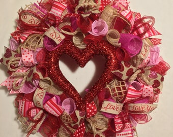 Valentine Wreath Etsy