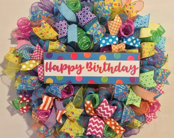 Happy Birthday Wreath Wreaths Party Decorations Boy Girl