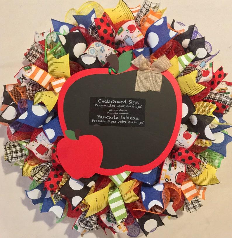 Teacher wreath, classroom wreath, classroom decor, back to school teacher  gift, back to school teacher's classroom wreath, classroom wreaths