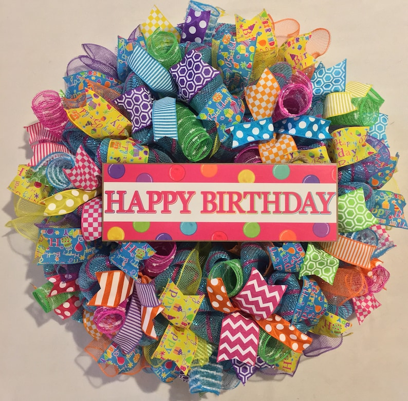 Birthday Wreath Happy Party Decor