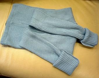 Merino Wool Leggings For Kids Navy Blue Stripes  Yoga style Waist  Baby wool Leggings  Kids wool Leggings