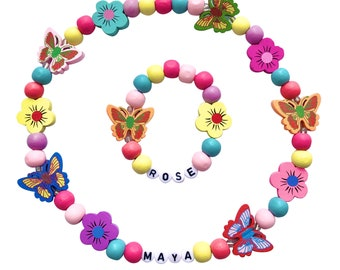 jewelry flamingo Personalized colored and black stones bracelet Accessories Initial letter Gift Idea