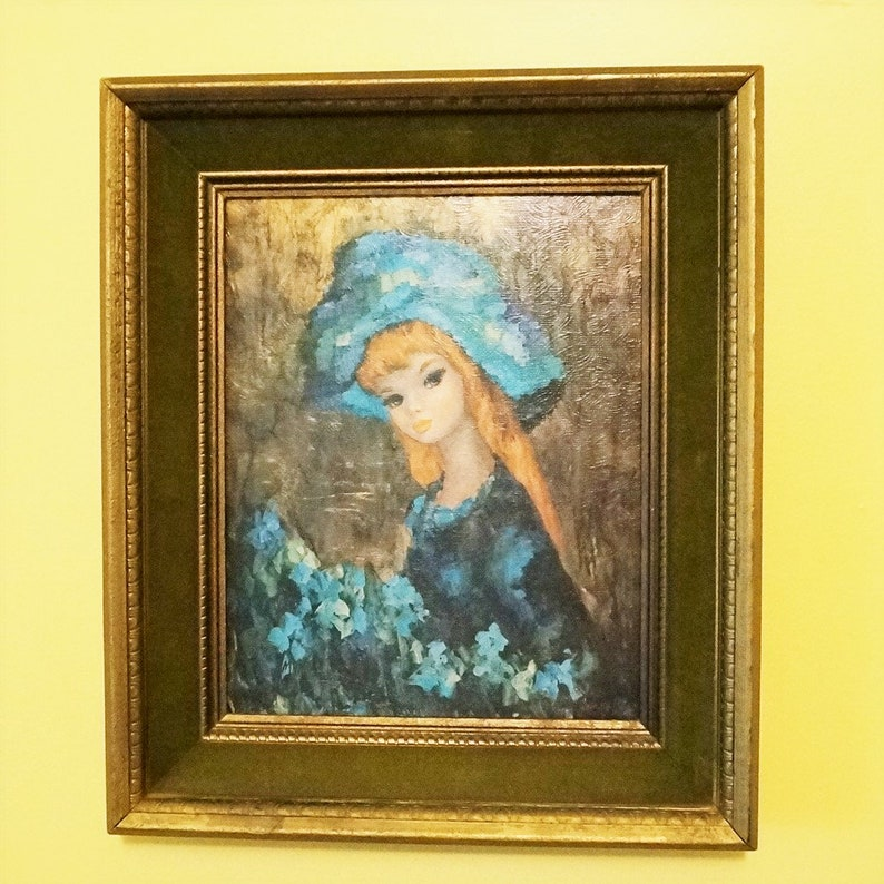 Framed Retro Print; Serenade in Blue; By Maio; FREE SHIPPING !!!