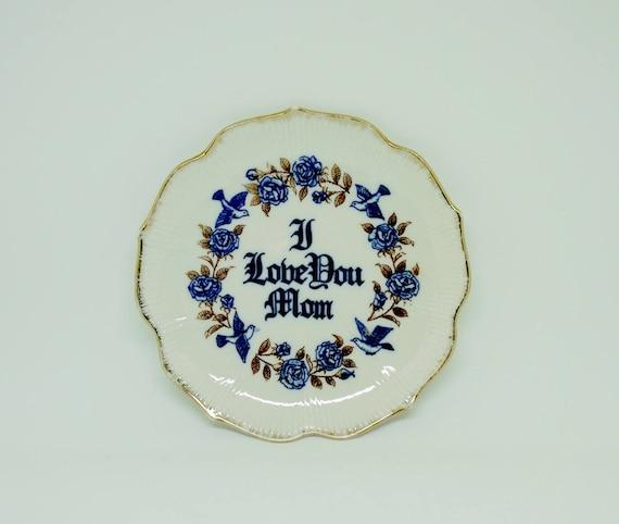 Plaque décorative «Hommage à maman» Giftcraft; Toronto; Importé du Japon; Jeu de couleurs bleu et marron; 6 pouces