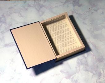 Blue Hollow Book Safe   Book Safe  Hollowed Out Book   Book Box   Secret   Gift Box   Stash Box   Diversion   Secret Compartment   Vintage