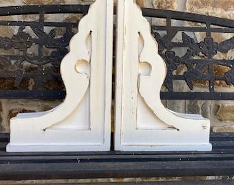 """Corbels - pair - """"The Laura"""" vintage style - handmade - wood- rustic - distressed"""