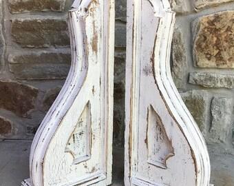 Corbels - pair - vintage style the Anne  - handmade - wood