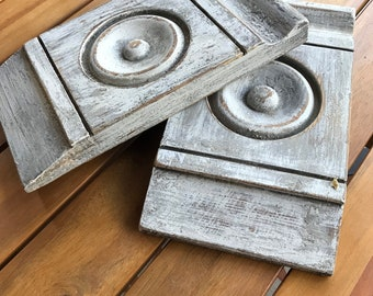Architectural Salvage Molding Plinth blocks vintage