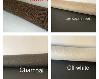 Brown herringbone door snake COVER, window or door draft stopper brown,  window draft stopper, draft dodger