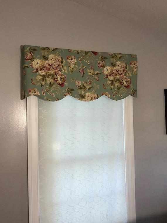 Etsy & Window Valance Curtains Kitchen Valance Curtains Window Valances Window Topper Modern Window ValancesScalloped Valance Custom Valance
