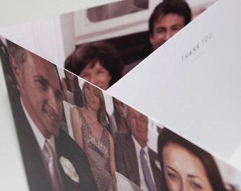 A Thousand Words - Tri-fold Thank you card - Modern card - Photo - Wedding - Birthday - Trifold - Minimalist Thank you - Contemporary