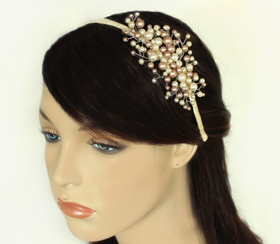 Bridal hairpiece Bridal side tiara Bridal headband Wedding  c7c4b3da4ef