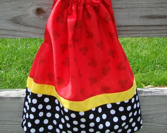 Mickey Mouse pillow case style dress