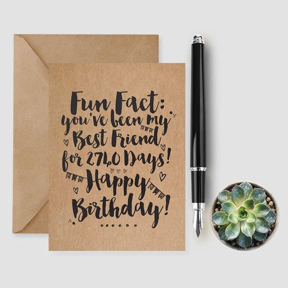 Happy Birthday Card Best Friend Card Birthday Girl Card Etsy