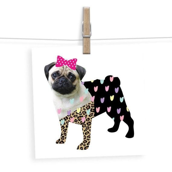 Pug Birthday Card Dog Lover Gift Ideas