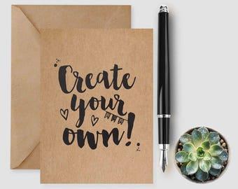 Create Your Own Card, Personalised Card, Custom Birthday Card, Custom Anniversary Card, Wedding Card, Create A Card