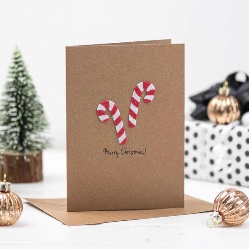Individuelle Weihnachtskarten.Zuckerstange Weihnachtskarte Individuelle Weihnachtskarten Frohe Weihnachten Urlaub Karten Land Weihnachtskarten Urlaub Grußkarten