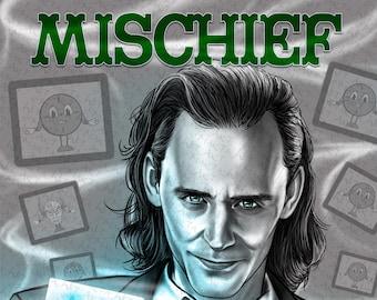 MARVEL00P - Mischief (11x14)