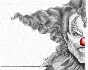 HR25 - Fan Art Print - Jack the Clown