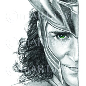 Made to order Choose from 2 editions Loki poster