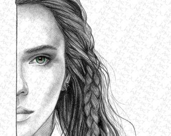 MARVEL62 - Fan Art Print - Natasha