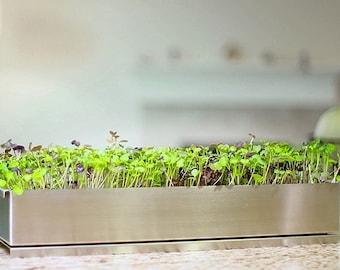 Soil Free Microgreens Kit (stainless Steel) | Hydroponic Indoor Garden |  Veggie Planter