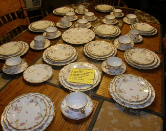 Stunning Limoges China Set Elite Works BAWO DOTTER Luncheon Set for 12  People BWD29 1be542a519